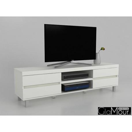 Szafka RTV MILOS w kolorze białym 30901WW