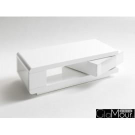Biały Stolik kawowy z obrotowa szufladą 59031WW