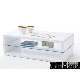 Stolik kawowy AGATHA ze szklana półką