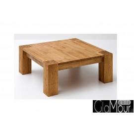 Kwadratowy stolik kawowy ALLEN lity dąb
