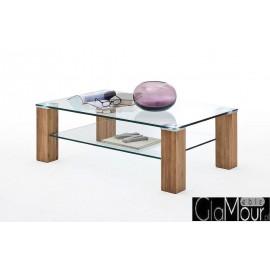Elegancki stolik kawowy ALMA 110 ze szklanym blatem