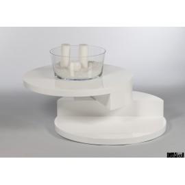 Stolik kawowy obrotowy BUTTERFLY w kolorze białym