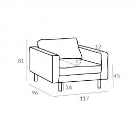 Sofa 15 Mellow 1 GR Tkanin