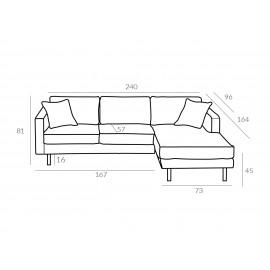 Sofa 2LC Mellow 1 GR Tkanin