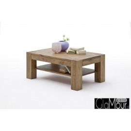 Elegancki prostokątny stolik kawowy LENNOX dąb