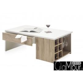 Prostokątny stolik kawowy MERLOT z szufladą