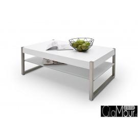 Elegancki stolik kawowy MIGEL blat w kolorze białym