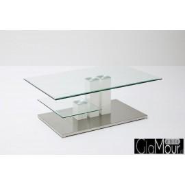 Elegancki stolik kawowy z blatem szklanym