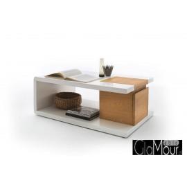 Stolik kawowy PAVELz szufladą i klapą