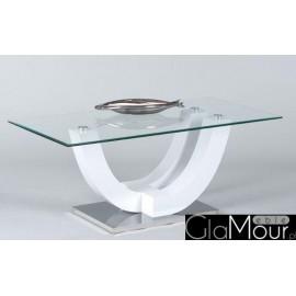 Nowoczesny stolik kawowy SWING ze szklanym blatem