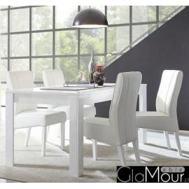 Stół DAMA 137x90cm w kolorze białym