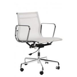 Fotel konf. CH1081 biała siateczka Outl