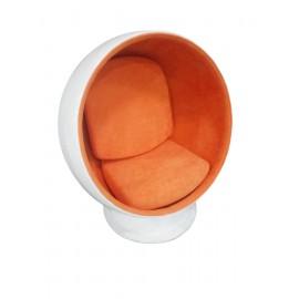 Fotel Kula biało/pomarańczowy