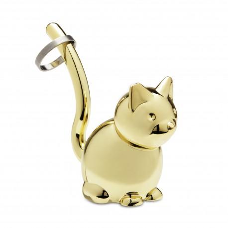 Wieszak na biżuterię Zoola Kot Brass