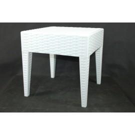 Stolik Ipanema kwadratowy biały Outlet