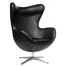 Fotel Jajo Soft skóra ekologiczna 527 czarny Outlet