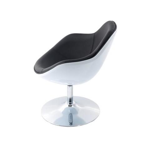 Fotel Pezzo K- biały S-czarne 927 Outle