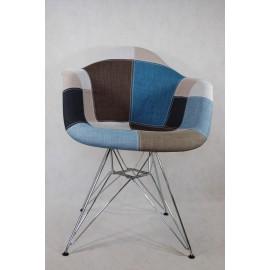 Krzesło P018 DAR patch nieb-szary Outlet