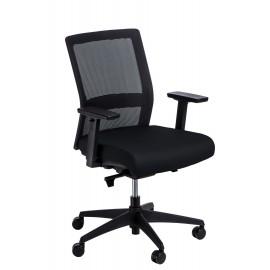 Fotel biurowy Press czarny/czarny