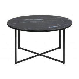 ACTONA stolik ALISMA 80 - szkło czarne nogi