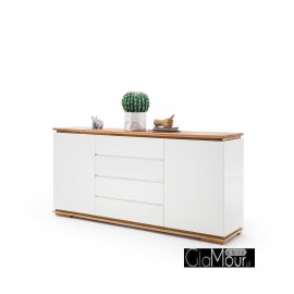 Stylowa komoda do salonu CHIARO lakier biały mat 48450