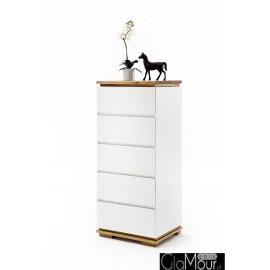 Elegancka komoda CHIARO lakier biały mat 48447