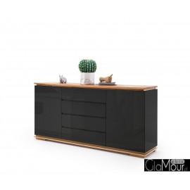 Stylowa komoda do salonu CHIARO czarny lakier 48450