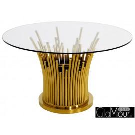Stylowy okrągły stół w kolorze złotym TH521