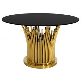 Elegancki stół w kolorze złoto-czarnym TH521
