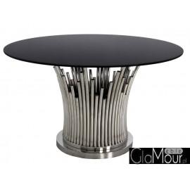 Stół srebrno czarny 130x76cm TH521