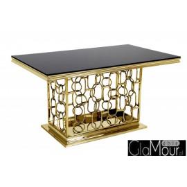 Stół złoto czarny 150x90x80cm TH522