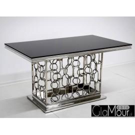 Stół srebrno czarny 150x90x80cm TH522