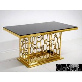 Stół złoto czarny 200x100x80cm TH522-1