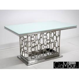 Stół srebrno biały 200x100x80cm TH522-1
