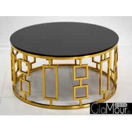 Stolik kawowy złoto czarny 90x42 cm C415