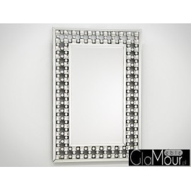 Lustro kryształowa rama 76x116cm JS-109