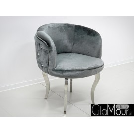 Fotel FC39 60x60x72cm w kolorze srebrno grafitowym