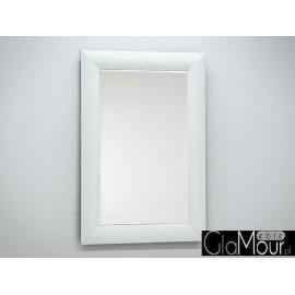 Lustro białe szkło 80x120cm 15JZ191