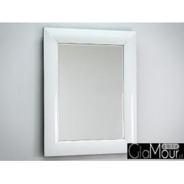 Lustro białe szkło 80x100cm 15JZ191