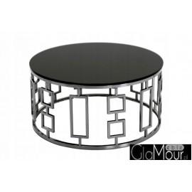 Stolik kawowy śrebrno czarny 90x42cm C415