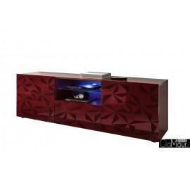 Stylowa włoska szafka rtv PRISMA do pokoju trzy kolory 206699-02