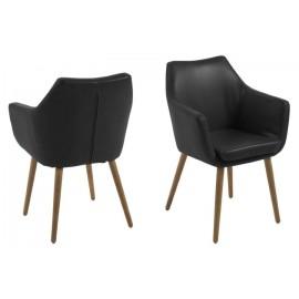 Krzesło Nora Black PU