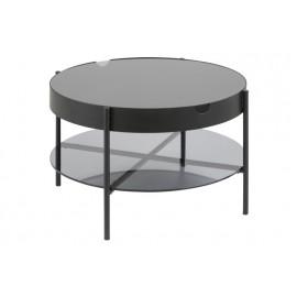ACTONA stolik szklany TIPTON L czarny - szkło metal