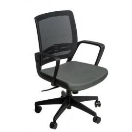 Fotel biurowy Seca B czarny/szary