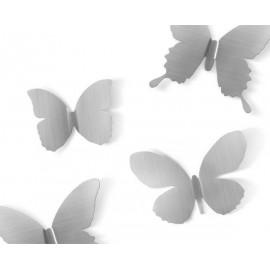 Zestaw dekoracyjny Mariposa niklowany
