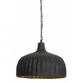 Lampa wisząca Verena matowa czarna/złota