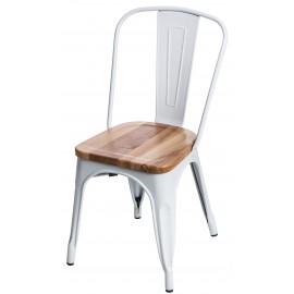 Krzesło Paris Wood białe jesion