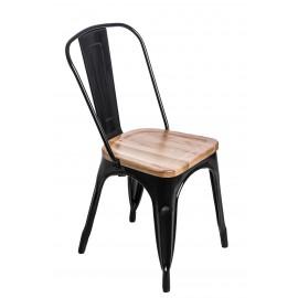 Krzesło Paris Wood czarne jesion