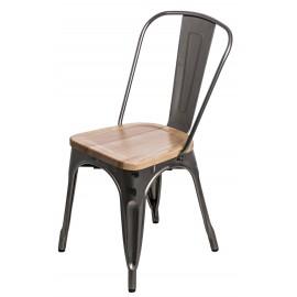 Krzesło Paris Wood metaliczne jesion