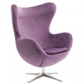 Fotel Jajo Velvet fioletowy